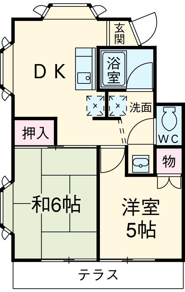 クレスト池田壱番館 101号室の間取り