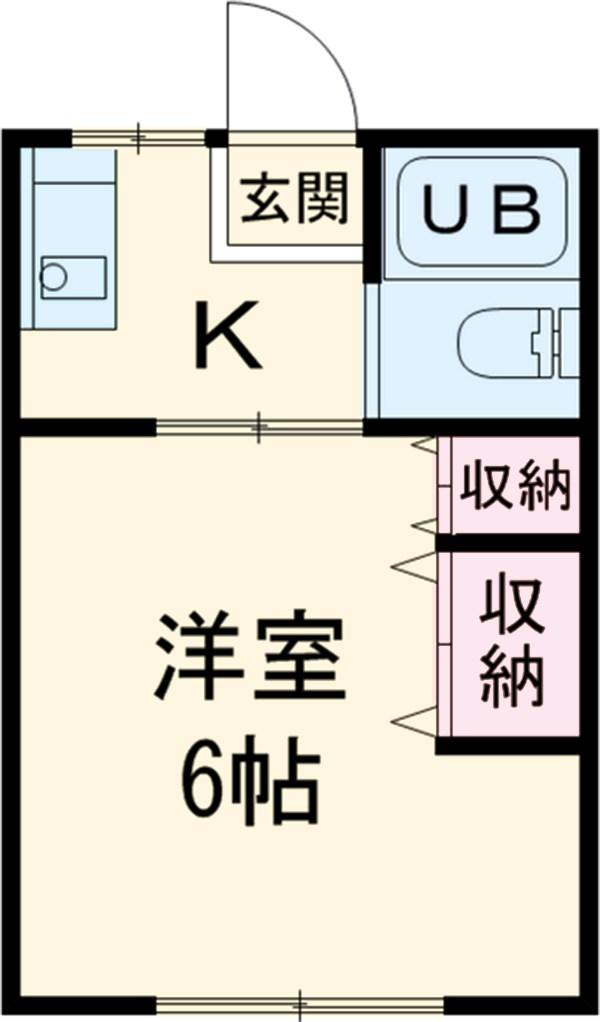 第7田村ハイツ 107号室の間取り