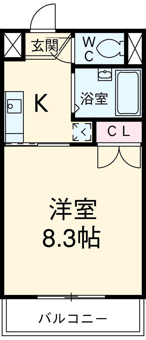 メルヴェーユ小幡Ⅱ 505号室の間取り