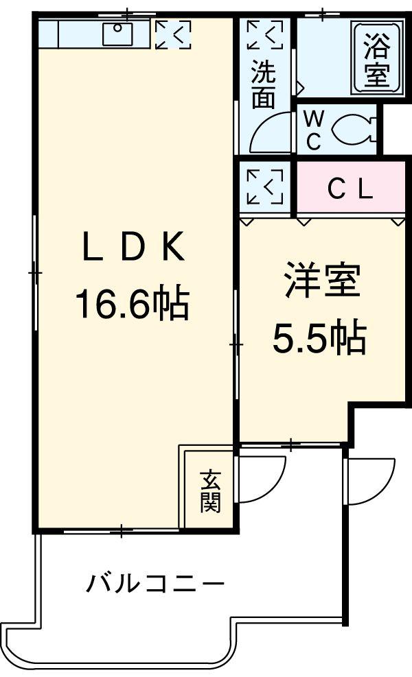 リムロックハウス覚王山 3A号室の間取り