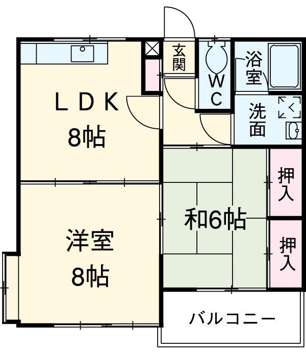 セゾンマツシマⅠ 106号室の間取り