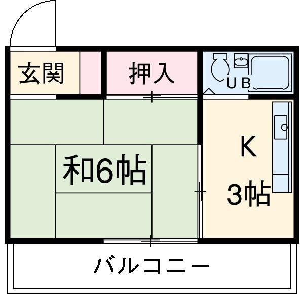中井マンション 201号室の間取り