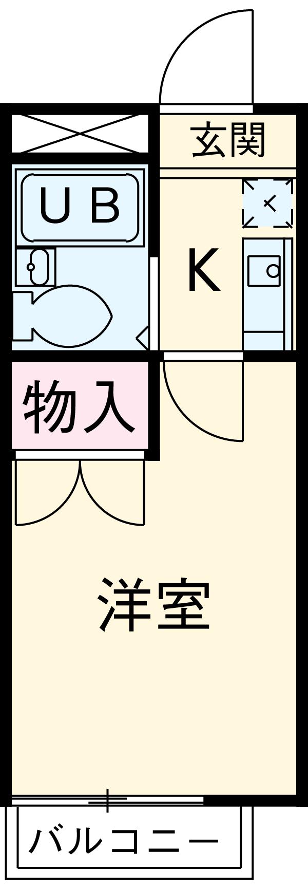 RX豊田 401号室の間取り