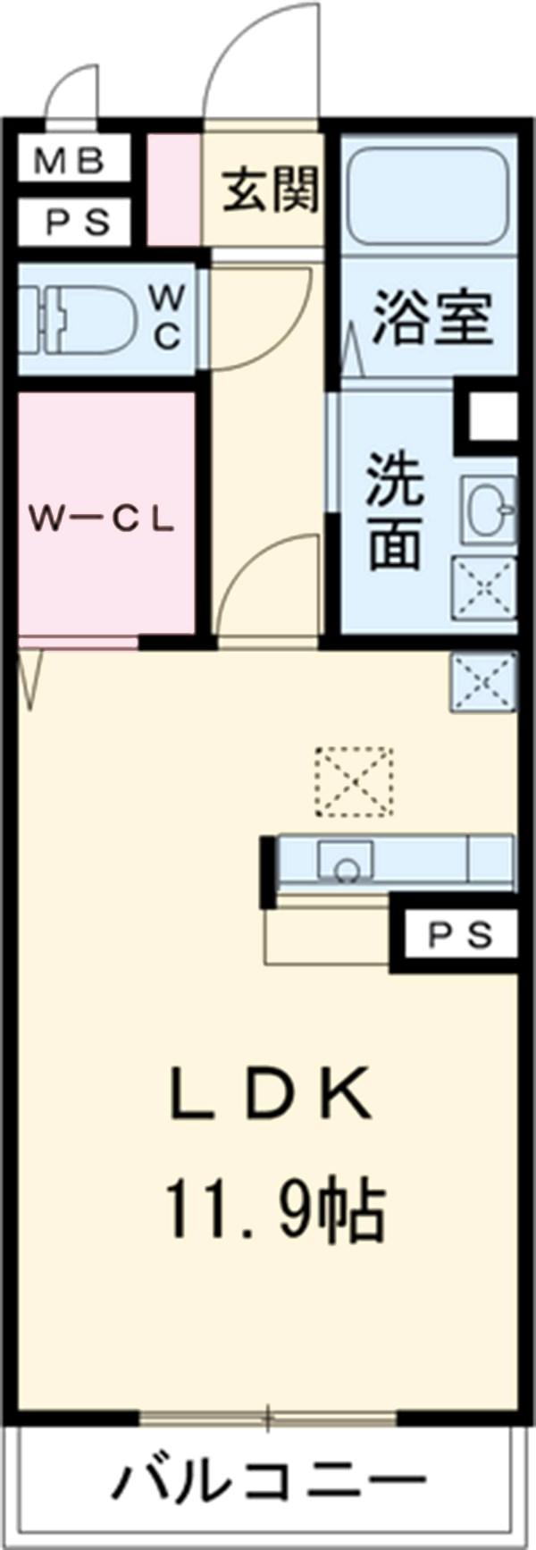 D-roomサンヒルズ B 207号室の間取り