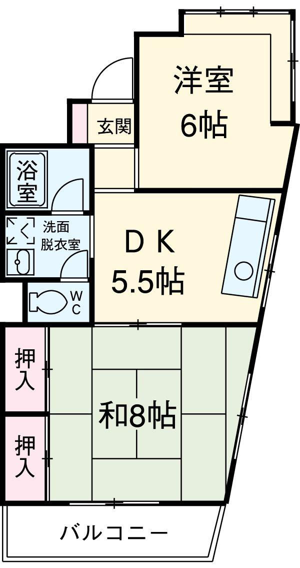 210ルミエール 314号室の間取り