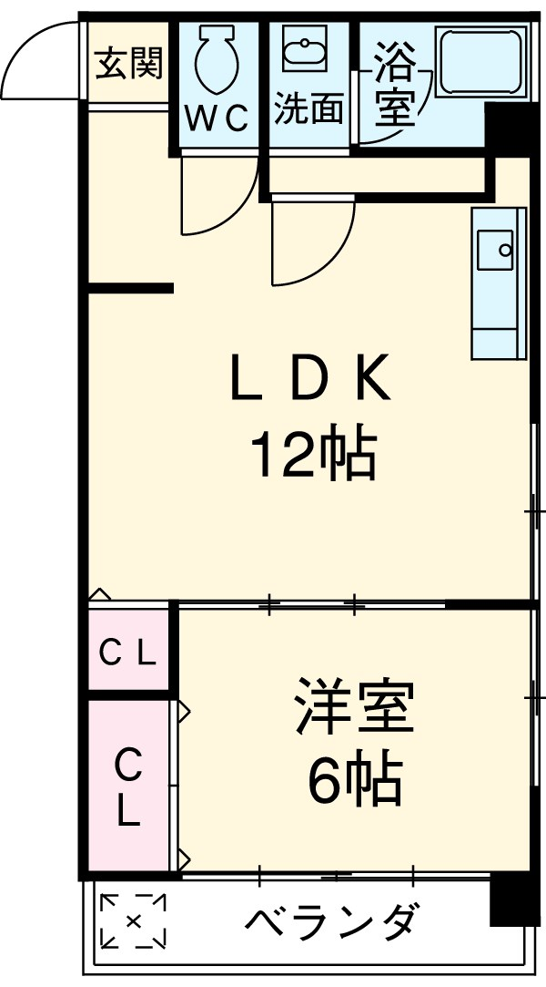 SK BUILDING-21 3B号室の間取り