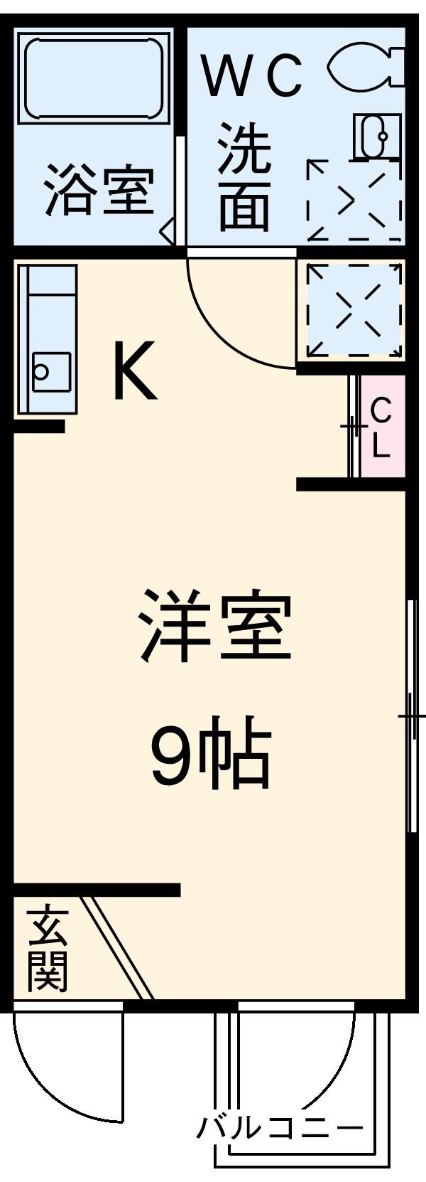 ビューレ金沢八景 101号室の間取り