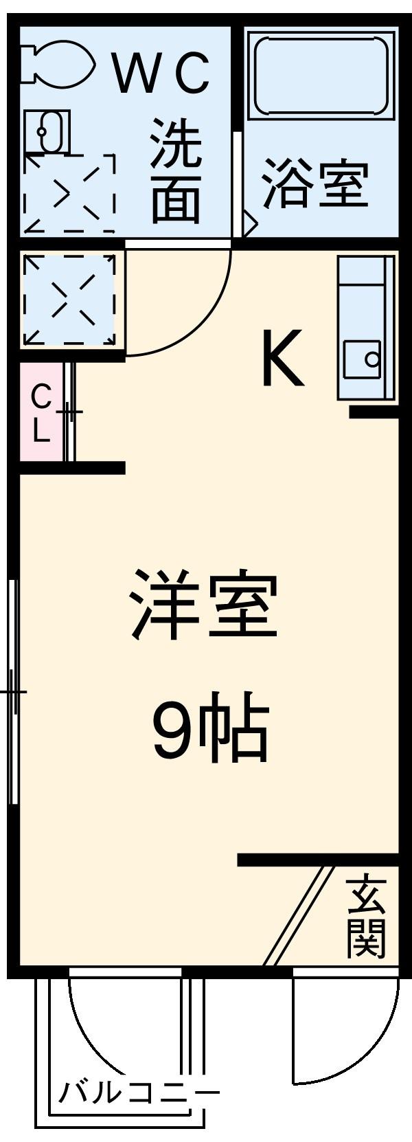ビューレ金沢八景 102号室の間取り
