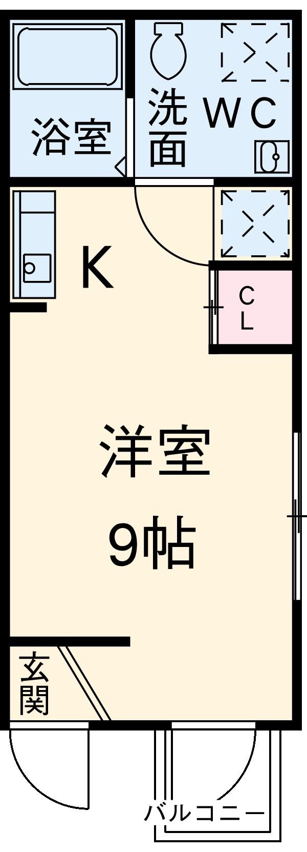 Residence hale ohana 101号室の間取り