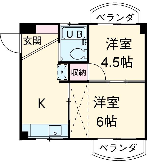 綾瀬桜マンション 202号室の間取り