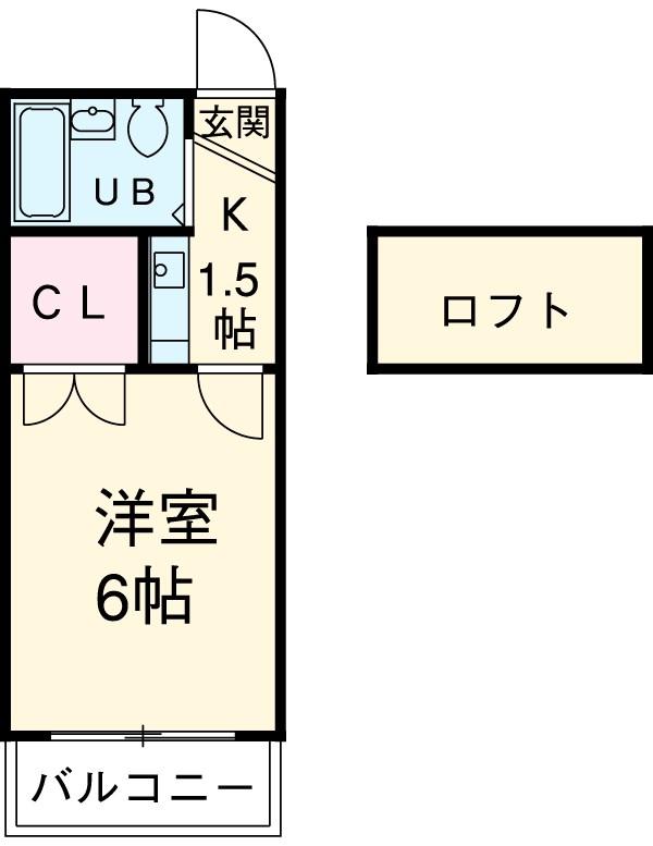 リバーサイド喜多山 104号室の間取り