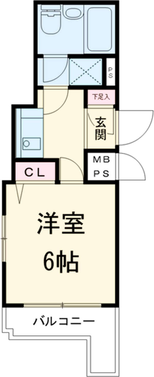 ライオンズマンション亀有第3 602号室の間取り