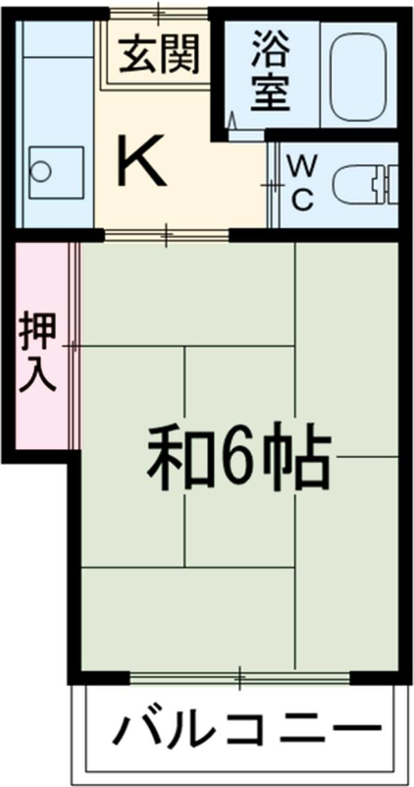 栄和荘 103号室の間取り