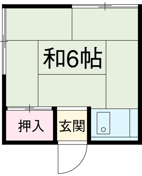 森永アパート 207号室間取り図
