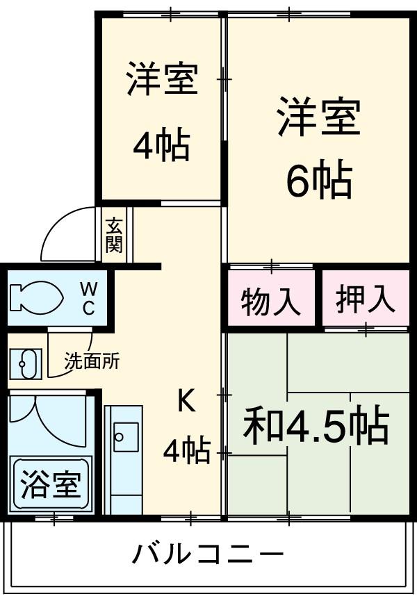 櫛田マンション 201号室の間取り
