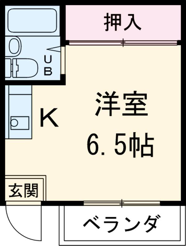 新守山カジウラマンション 1C号室の間取り