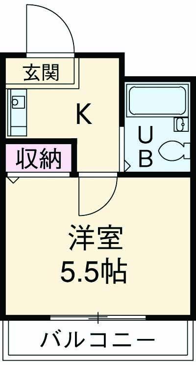 コパーズアプト港南ⅥパートⅡ 203号室の間取り
