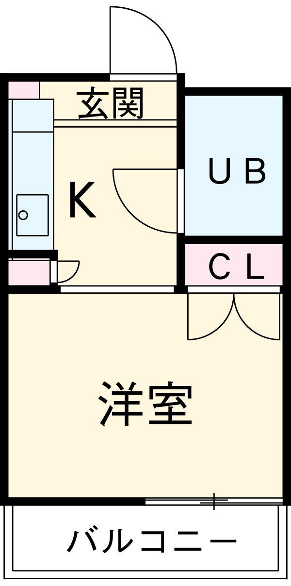 PALACE弘明寺Ⅰ 203号室間取り図