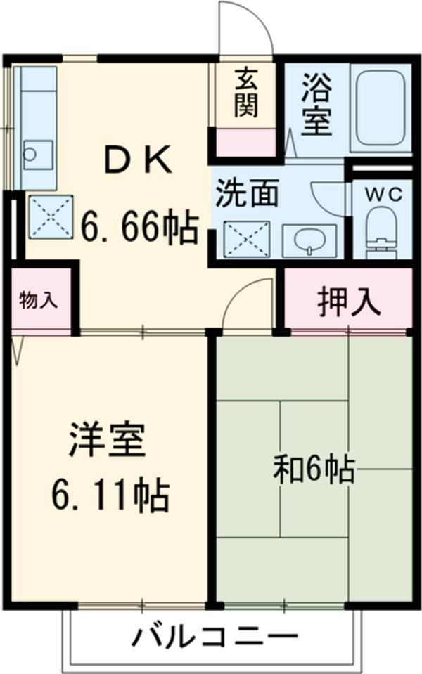 サンコート東戸塚C 102号室の間取り