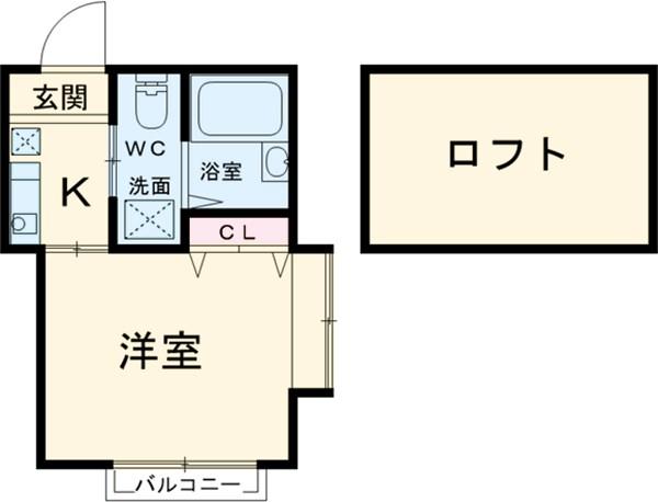 モンステラ妙蓮寺B 205号室の間取り