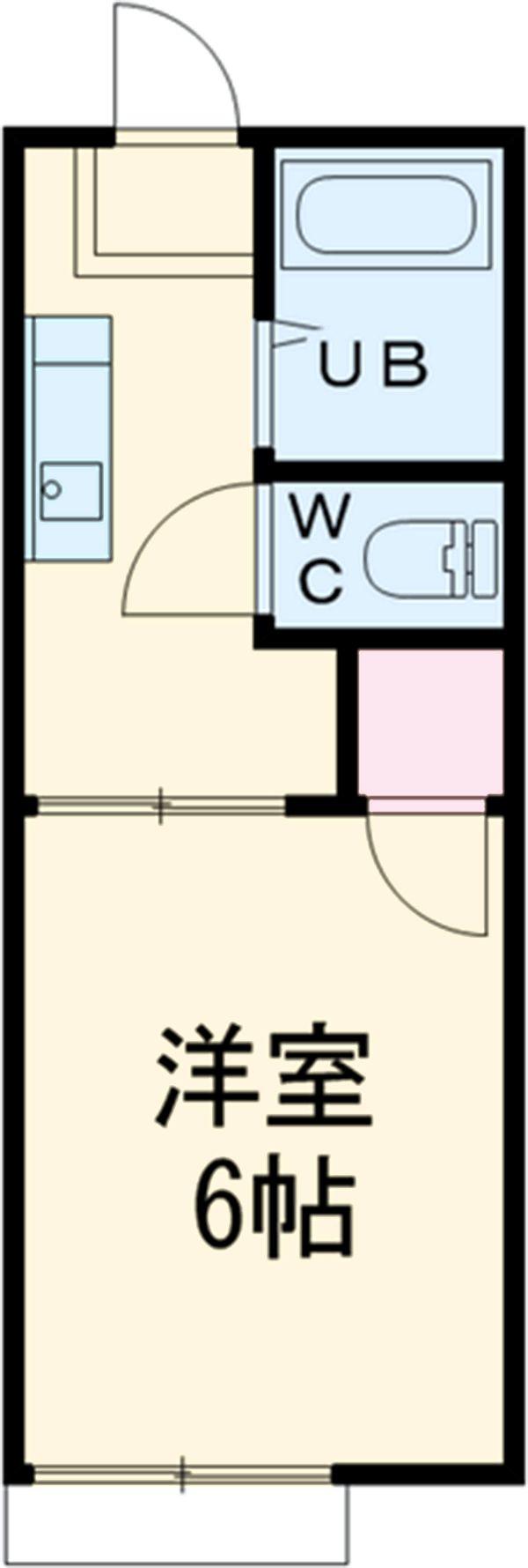 第二サフランハイツ 2-B号室の間取り
