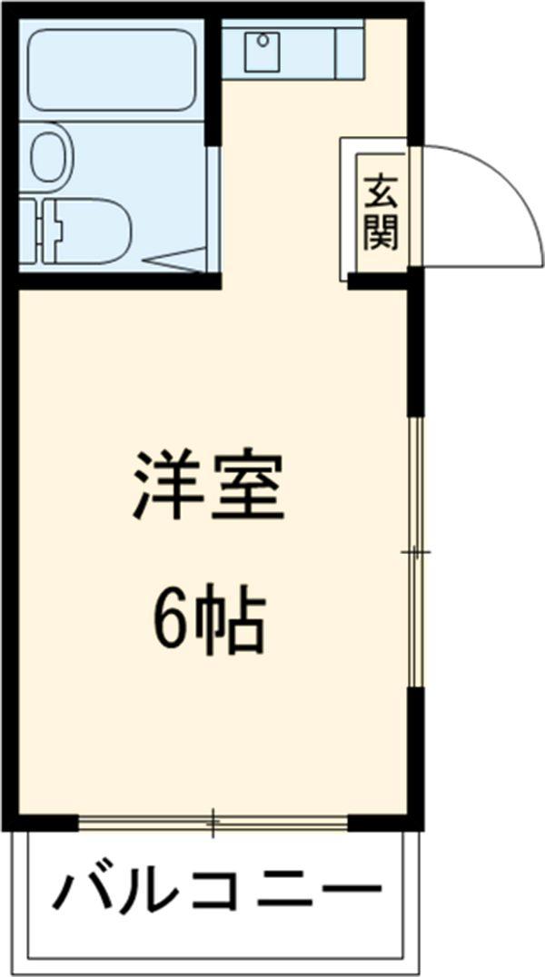 コーポ中川B棟 201号室の間取り