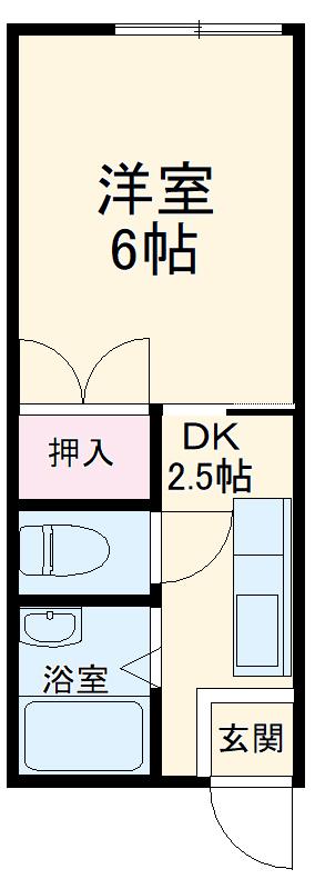 パナハイツヤマキA 202号室の間取り