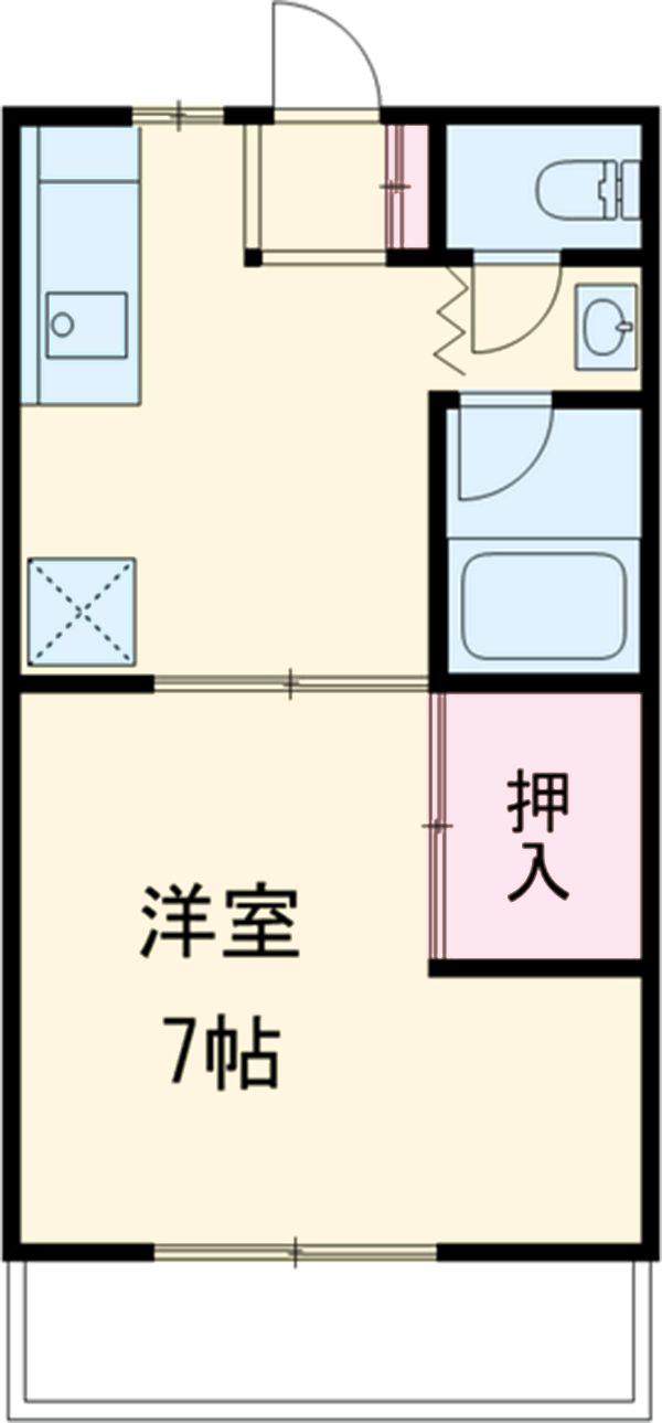 ミヤマコーポⅡ 102号室の間取り