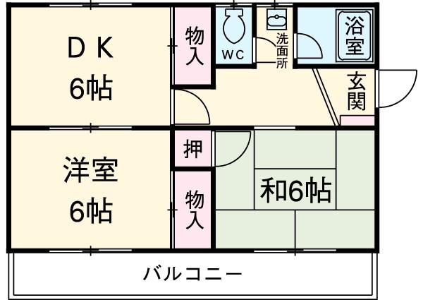 東栄マンション 302号室の間取り