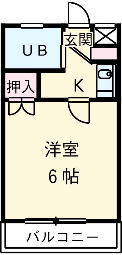 コンフォートマンション大宮 611号室の間取り