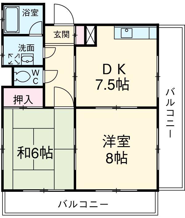 ユニテ松本 302号室の間取り