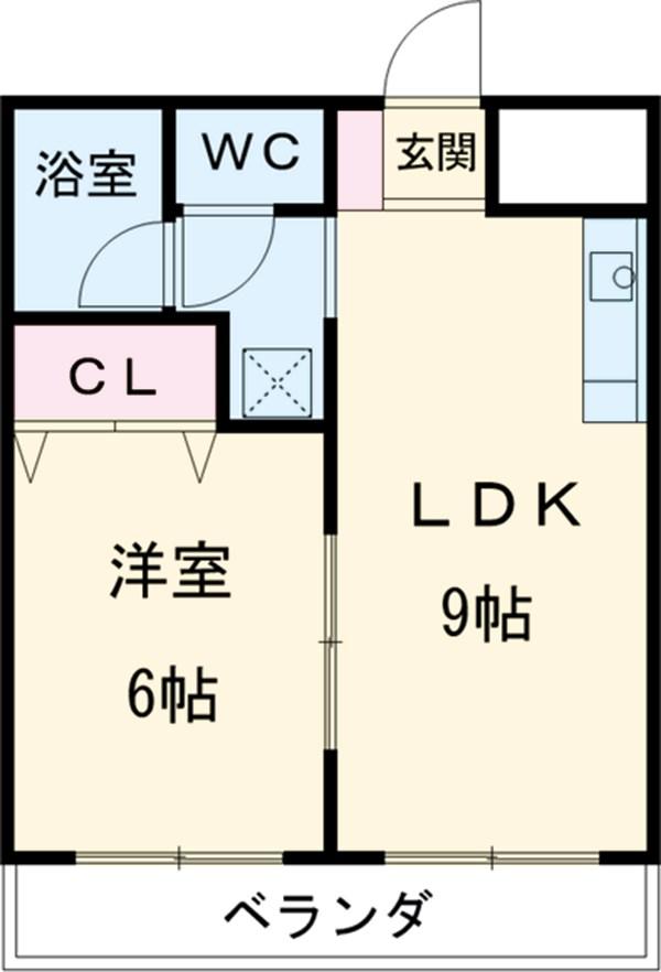 会津コーポ 306号室の間取り