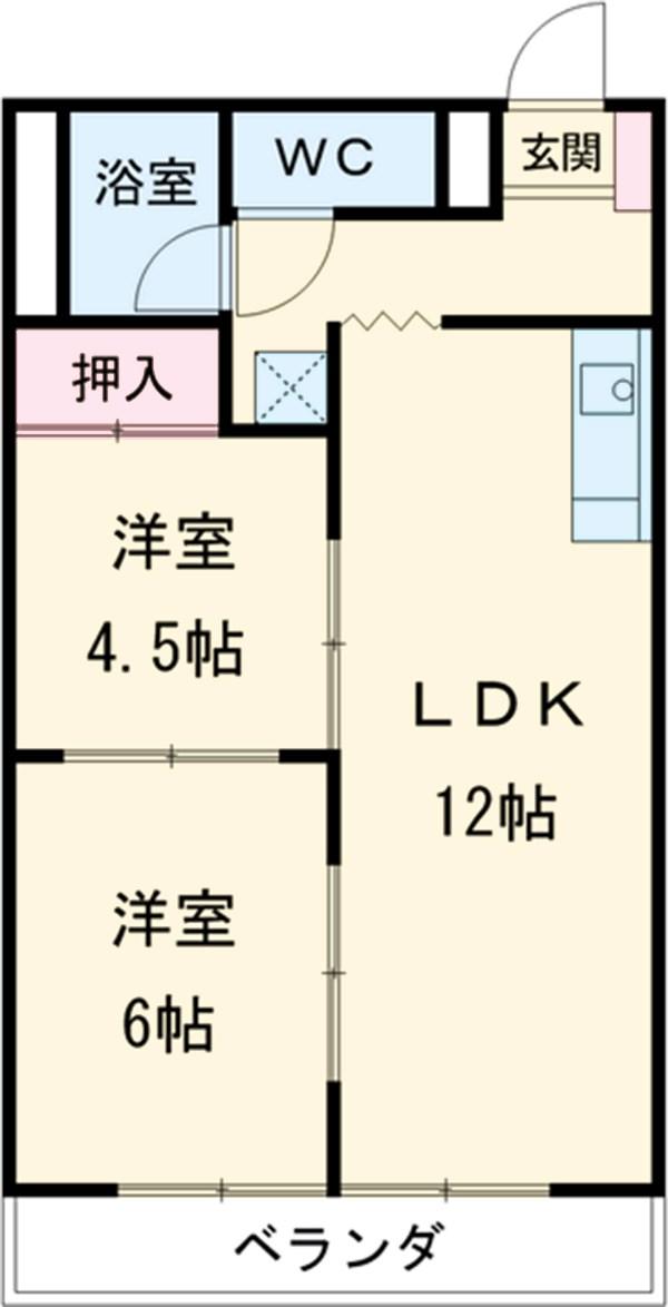 竹林マンションⅡ 308号室間取り図