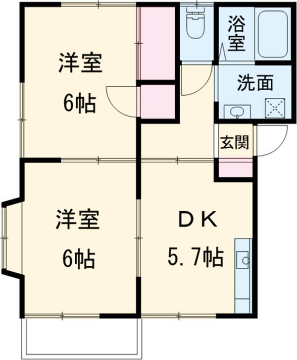 コーポさち 103号室間取り図