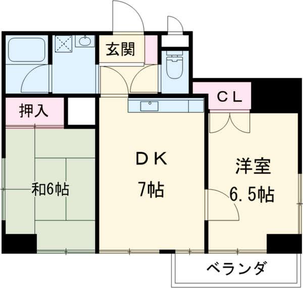 プレジール桜 3A号室の間取り