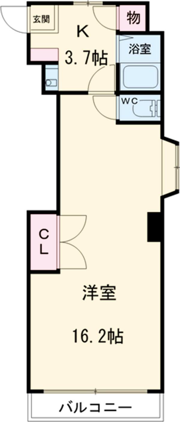 稲葉ビル 3-D号室間取り図
