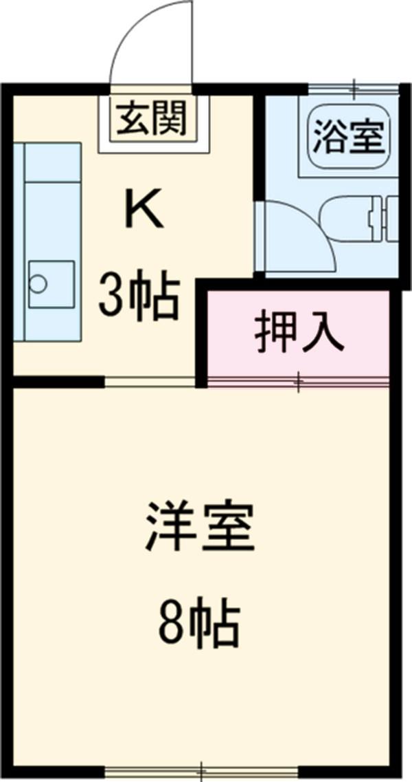コーポ中村Ⅱ 107号室の間取り