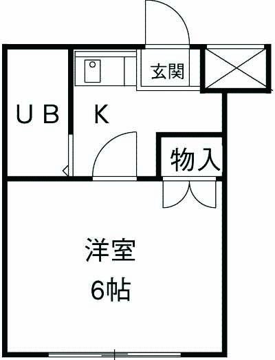 スカイコート武蔵小杉第5 105号室の間取り