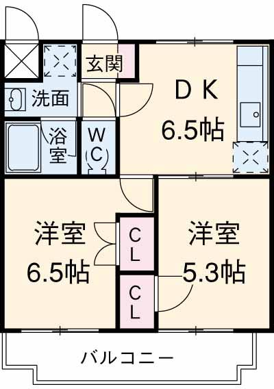 グリーンガーデン東戸塚 202号室の間取り