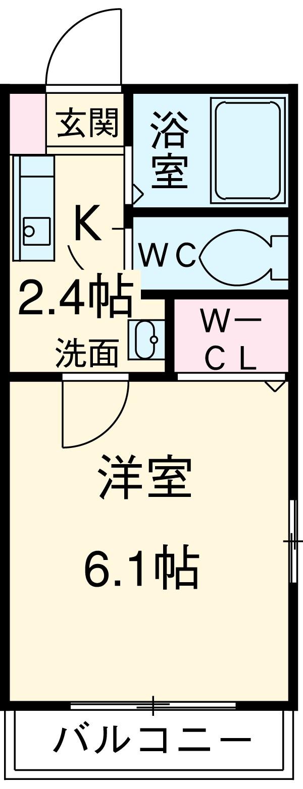 Wing湘南 207号室の間取り
