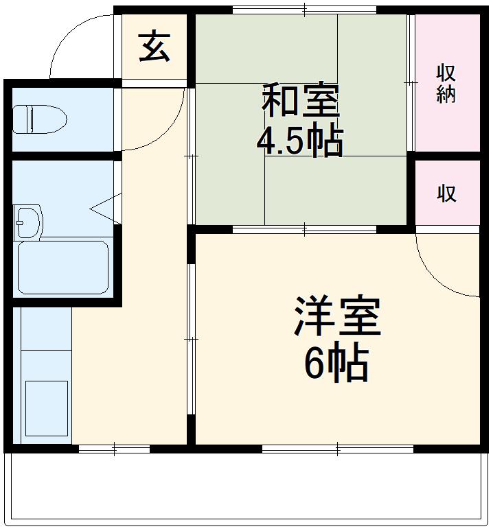 錦町マンション 3-D号室の間取り