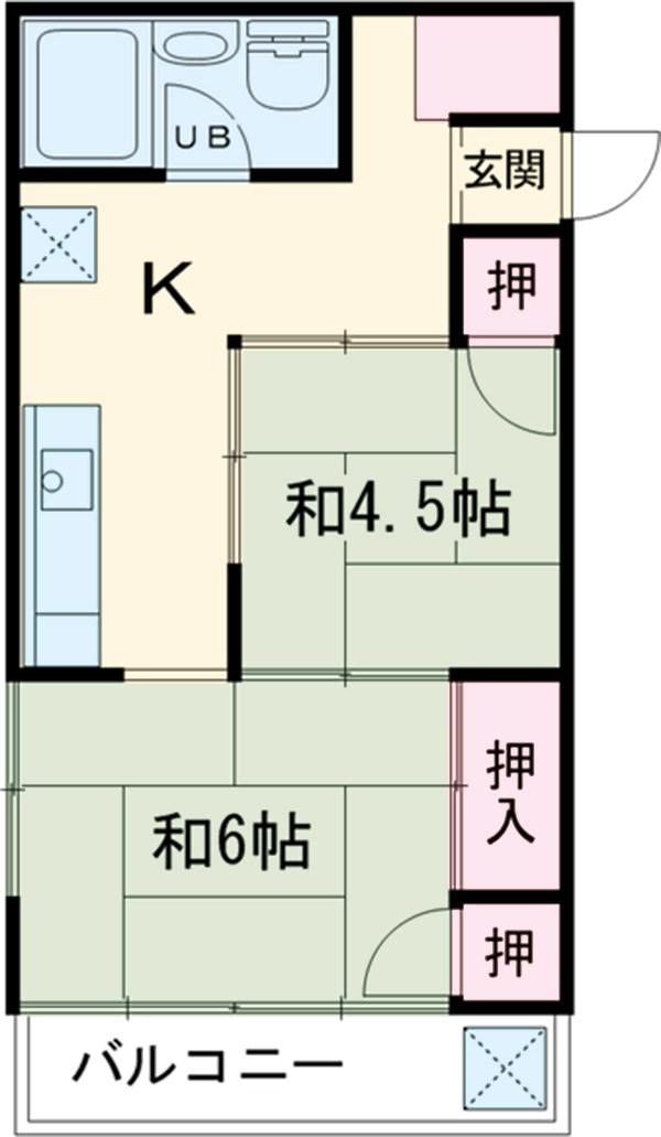 第2三井マンション 401号室の間取り