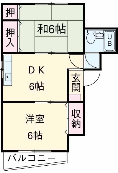 マンション渡田 302号室の間取り