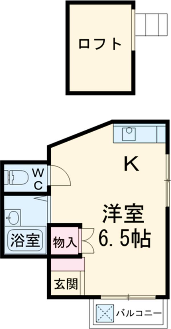 アクトS国立ビルパートⅡ 202号室の間取り