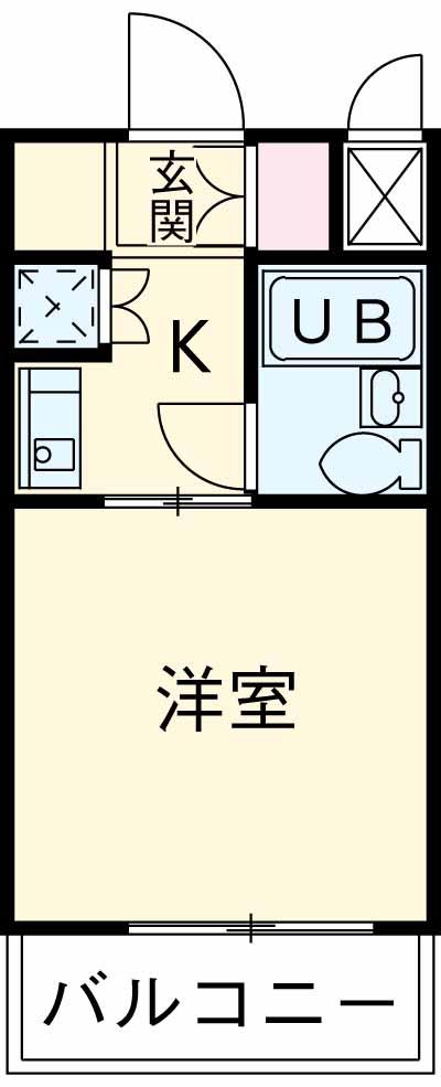 モナークマンション柿の木坂 203号室の間取り