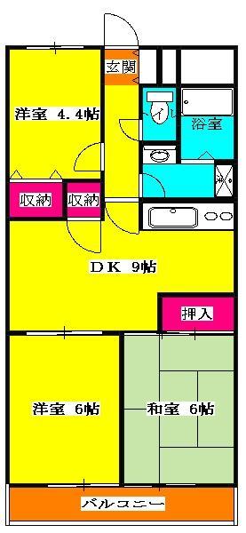 サクシ-ド 502号室の間取り