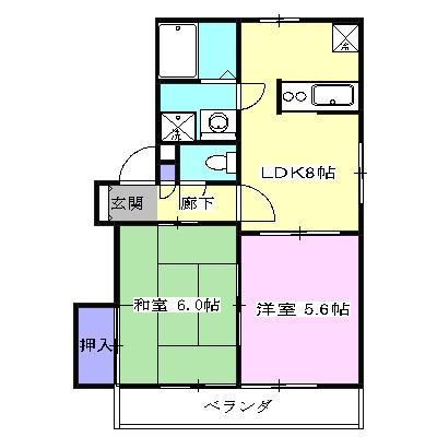 アパートメント294番館A棟 A201号室の間取り