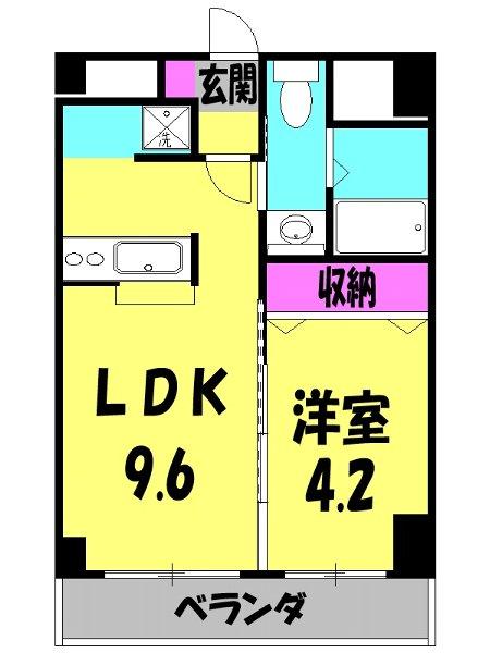 アクアタウンイーストⅡ 603号室の間取り