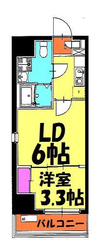 アクシーズタワー浦和岸町Ⅲ 703号室の間取り