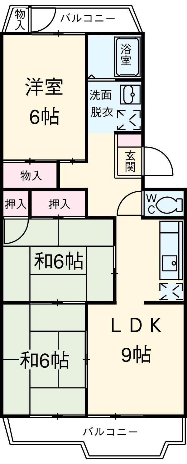 パークマンション 305号室の間取り